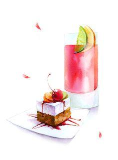 甜点插画来自深雪的图片分享-堆糖;