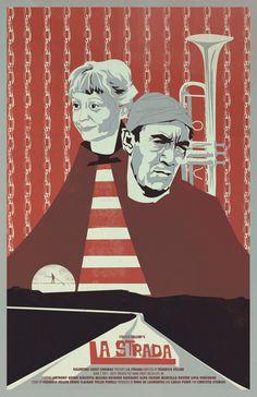 La Strada · Federico Fellini movie poster