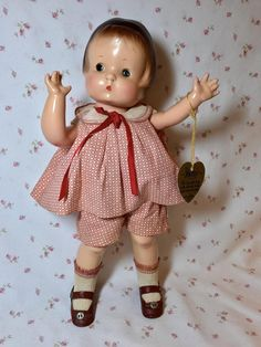Vintage 1920's Effanbee Pat. Pending Patsy in EARLY Box Tiny Dolls, Old Dolls, Baby Boomer Era, Nancy Doll, Effanbee Dolls, Vintage Paper Dolls, Vintage Tags, Doll Maker, Antique Toys