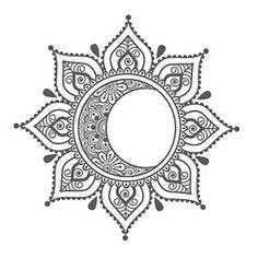 Moon Mandala Tank Top Bella tank top moon tank by MadMoonClothing Trendy Tattoos, New Tattoos, Body Art Tattoos, Tatoos, Moon Drawing, Mandala Drawing, Colorful Mandala Tattoo, Mandala Tattoos For Women, Sunflower Mandala Tattoo