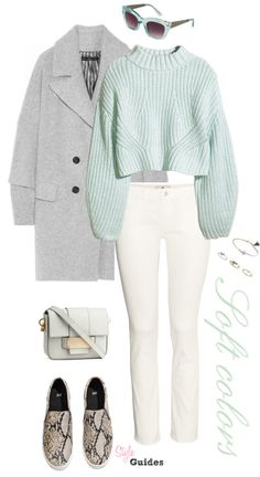 Style Guides: Look 188 - Soft Colors Oufits Casual, Casual Work Outfits, Swag Outfits, Work Casual, Casual Looks, Cute Outfits, Winter Fashion Outfits, Winter Outfits, Elegant Outfit