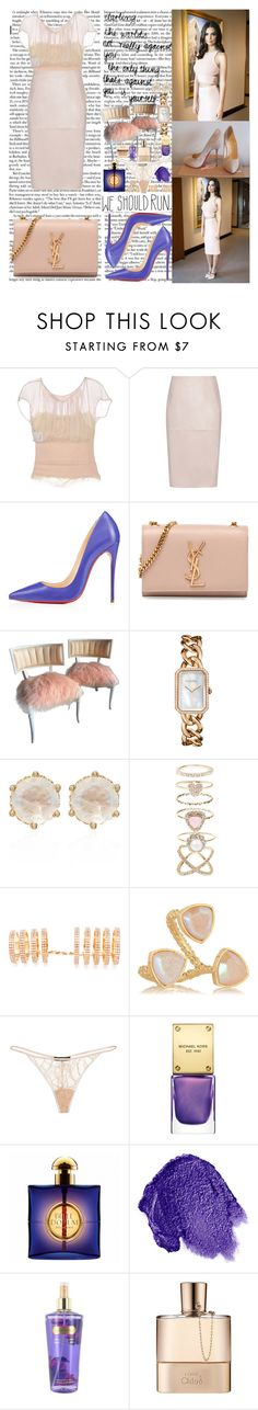 """And you will never feel so pretty And you will never feel this beautiful When I make it there Oh when I make it there  There are certain things that I've come to understand Expectations can kill a simple man, simple man"" by labelsoflove ❤ liked on Polyvore featuring Prada, Reiss, Christian Louboutin, Yves Saint Laurent, Chloé, Chanel, Anna Sheffield, Accessorize, Repossi and Dara Ettinger"