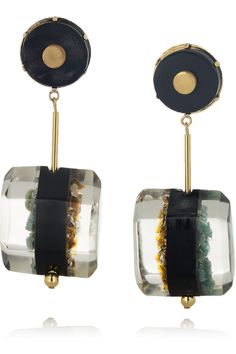 THE TREND EDIT SS2012 The Statement Earring No.14/25 MARNI Resin, horn and semi-precious stone clip earrings