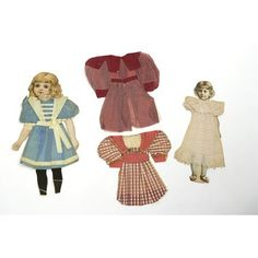 Cut out Dolls, 1895 Museum Of Childhood, Book Jacket, Old Dolls, Victoria And Albert Museum, Crepe Paper, Night Gown, Purple, Pink, Red And White