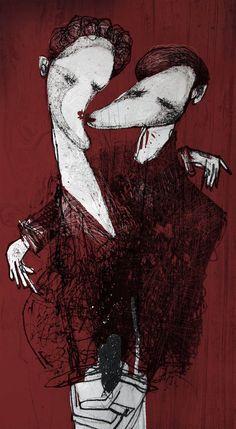 """Illustrazione per la rivista """"Illustrati Gennaio 2013"""""""
