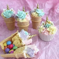 Cake Pops Unicorn Birthday 55 New Ideas - Unicorn cupcakes - Unicorn Themed Birthday Party, Birthday Cupcakes, Unicorn Party, Birthday Ideas, 5th Birthday, Unicorn Birthday Cakes, Unicorn Cakes, Unicorn Foods, Savoury Cake