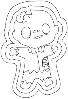 Little Brainiac Zombie Image The Bradys Halloween Coloring Pages
