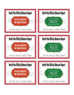 DIGITAL Elf naughty and nice notes.  Great for your Elf on the Shelf.  Great way to encourage good behavior at Christmas time.