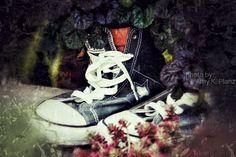 8x10 Fine Art Garden Shoe on Gliclee paper