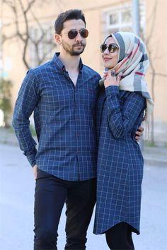 What can anyone touching non- mauram women discuss? Hijab Style Dress, Hijab Outfit, Matching Couple Outfits, Matching Couples, Hijab Styles, Hijab Evening Dress, Cute Muslim Couples, Wedding Couple Poses Photography, Abaya Fashion