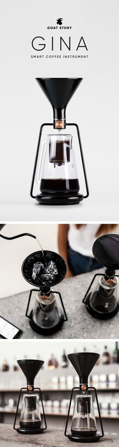 02bdcb82f51c91 There are many coffee brewers out there. But GINA Smart Coffee Instrument  takes manual brewing