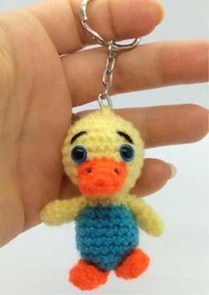 Amigurumi Duckling Key Chain