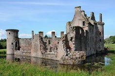 Caerlaverock Castle from the South East