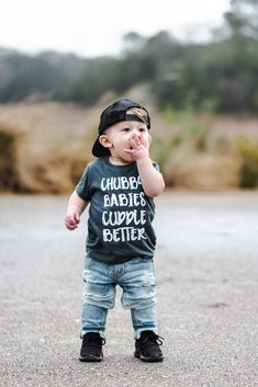 "Boy Names Discover ""Chubby Babies Cuddle Better"" Baby - Toddler Tee ""Chubby Babies Cuddle Better"" Baby - Toddler Tee Toddler Boy Fashion, Toddler Boy Outfits, Toddler Boys, Kids Outfits, Kids Fashion, Toddler Boy Clothing, Toddler Boy Style, Baby Boy Style, Hipster Kids Clothes"