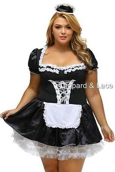 Plus Size French Maid / Rocky Horror Costume Dress & Cap - Aussie Seller Sissy Maids, French Maid Dress, Pin Up, Plus Size Halloween, Maid Outfit, Ideas Geniales, Halloween Disfraces, Spandex, Costumes For Women