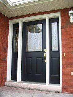 black door - trim white