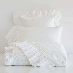EMBROIDERED PERCALE BED LINEN