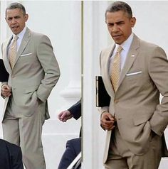 Obama in a tan suit and tie. Michelle Obama, First Black President, Mr President, Black Presidents, American Presidents, Joe Biden, Durham, Barack Obama Family, Barrack Obama