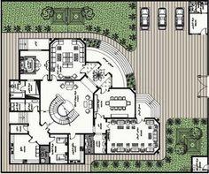 مخطط الفيلا رقم التصميم S2 من مبادرة بيتى 843 متر مربع » arab arch Luxury Floor Plans, Modern Floor Plans, Craftsman Floor Plans, Home Design Floor Plans, Luxury House Plans, Plan Design, Square House Plans, New House Plans, House Floor Plans