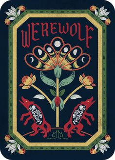 Krista Gibbard is raising funds for Werewolf on Kickstarter! Inspired by the popular party game, Werewolf offers a host of colourful characters illustrated in a European folk art style. Werewolf Card Game, Werewolf Games, Werewolf Art, Werewolf Tattoo, Female Werewolves, Female Monster, Illustration Story, She Wolf, Cute Art