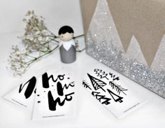 FREE Xmas gift tags by Maiko Nagao  Christmas Wrapping Scandinavian monochrome download