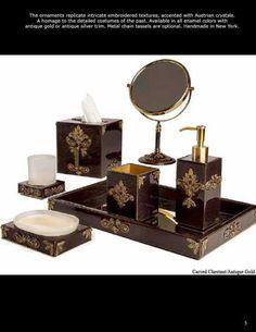 India ink morocco bath ensembles bathroom accessories for Luxury bathroom accessories india