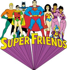 The Super Friends was an animated cartoon version of DC Comics Justice League of America, which was produced by Hanna-Barbera and original. Classic Cartoon Characters, Cartoon Tv Shows, Classic Cartoons, Wonder Twins, Best Comic Books, Comic Movies, Old School Cartoons, Cool Cartoons, Saturday Morning Cartoons 80s