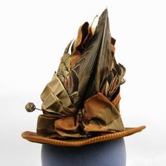 The ultimate 1880s Victorian bustle fashion hat. Looks like it jumped right out of a fashion plate of the time.