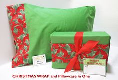 Christmas Wrap and Christmas Pillowcase in One . . . Sustainable Christmas Wrap.  $15