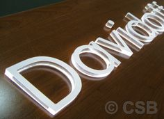 signage push through dimensional letters - Google Search