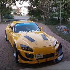 Honda S2000 / Yellow Car Honda Prelude, Yellow Car, Rx7, Honda S2000, Jdm Cars, Future Car, Custom Cars, Cars And Motorcycles, Dream Cars