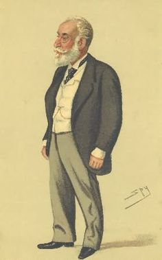 """A print of """"the Indian Rothschild"""" Sir Albert Abdallah David Sassoon. This 1879 Vanity Fair print can be purchased at http://www.pps-west.com/vfbizness.html"""