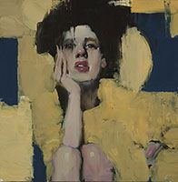 Blue and Gold / oil / 10 x 10 in. / $4200