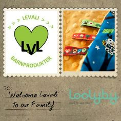 Another Loolyby family member! Welcome Levali - wonderfull web and stationary shop with fabulous products for children! www.levali.se #levali #loolyby #babyproducts