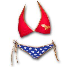 Wonder Woman Stars Juniors Swimsuit Bikini (19898)