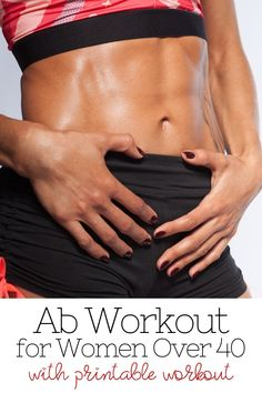 As women over 40, we can't neglect our abs! We can still have great abs with this ab workout that will only take a few minutes a day! My Fitness Pal App, Fitness Tips, Abs Workout For Women, Workout For Beginners, Strength Training Workouts, Weight Training, Workout Schedule, Workout Challenge, Great Ab Workouts