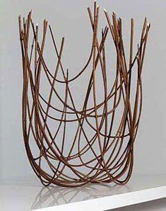 "50mh SPICE BUSH  Marion Hildebrandt  calycanthus branches  24.75"" x 19"" x 12"", 2007  $2,400"