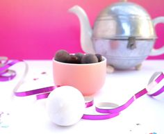 Teapot with truffles