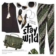"""""""Stay wild"""" by punnky ❤ liked on Polyvore featuring Proenza Schouler, Prada and Dolce&Gabbana"""