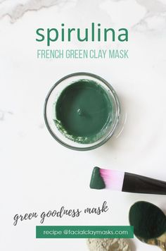 Green Goodness Spirulina Face Mask is the best way to add spirulina to your skincare. Easily add tsp to this clay mask recipe with french green clay. This mask works amazing to deep cleanse your skin and pores, shrinking the appearance of your pores Organic Skin Care, Natural Skin Care, Natural Beauty, Diy Skin Care, Skin Care Tips, Green Clay, Clay Masks, Beauty Recipe, Skin Treatments