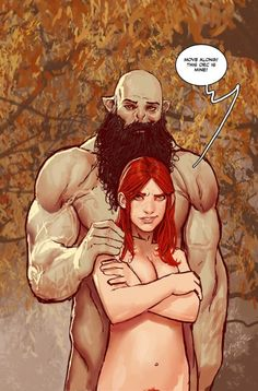 Saucy bit of Orc Dave/Violet (Rat Queens) by Stjepan Sejic.