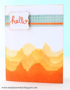 Li'l Buck's Creations: Ombre Orange Mountains Cute Card Thursday