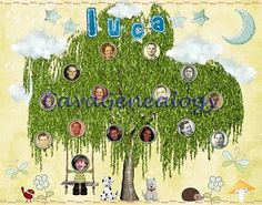 Kids family tree place mat #genealogy