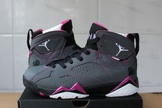 best website 83603 45511 Mens Nike Air Jordan 7 Retro Shoes Dark Fuchsia Flash on www.yoyonikejordan. com