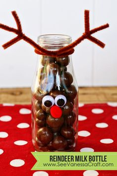 The cutest gift idea for the holidays - make a reindeer milk bottle!