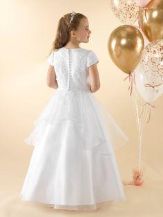 LWCD40 Communion Dress Holy Communion Dresses, First Holy Communion, Little White, Holi, Bodice, Flower Girl Dresses, Satin, Wedding Dresses, Skirts