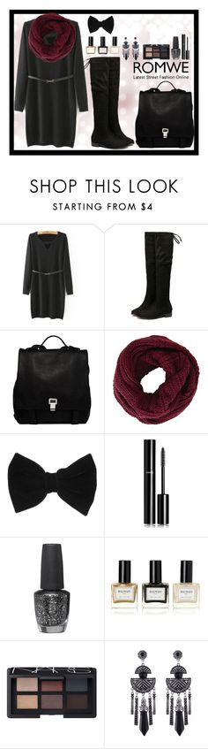 """Romwe 4"" by amra-f ❤ liked on Polyvore featuring Proenza Schouler, BCBGMAXAZRIA, claire's, Chanel, OPI, Balmain and NARS Cosmetics"