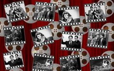 Party themes: hollywood black and white movie film clips on a red background Captain Jack Sparrow, Al Pacino, Sharon Stone, James Franco, Casino Royale, Movies To Watch, Good Movies, Best Social Media Campaigns, Thriller