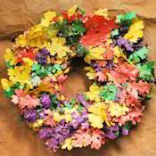 Dried Fall Leaves Wreath Large Single Wreath by Curious Country Creations