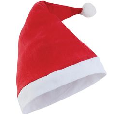 A super soft plush Santa Hat, great for wearing in the office or for fancy dress this Christmas.  White trim with white bobble and made from 100% Polyester.